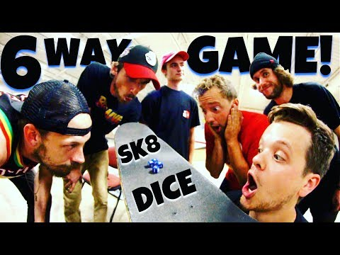6 WAY SK8 DICE GAME!  LEDGE EDITION