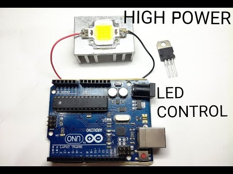 How to use High Power Led with Arduino/low voltage signal.