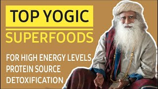 Top yogic super foods explained by Sadhguru -(For high energy,stability, health and detoxification )