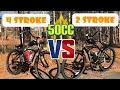 2 Stroke VS 4 Stroke SIDE BY SIDE Comparison 50cc Motorized Bike