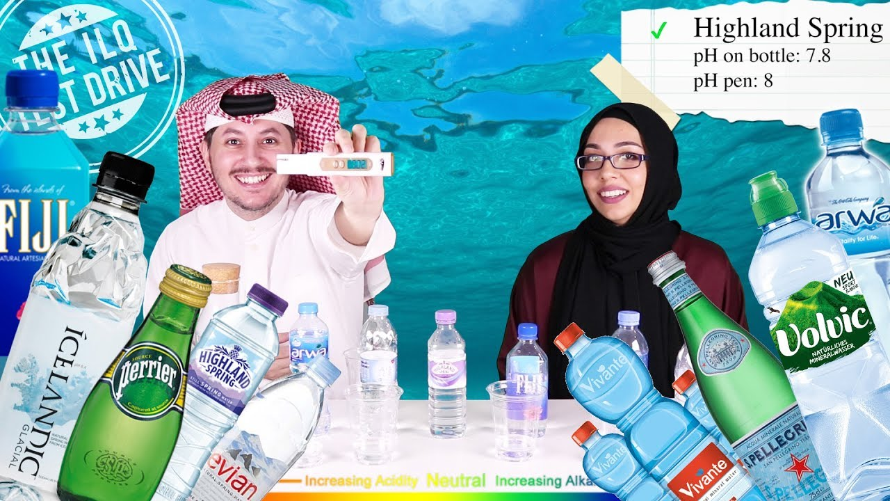 How acidic are bottled water brands in Qatar?