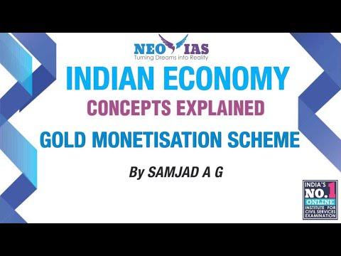 Gold Monetisation Scheme | Prelims 2017 Current Affairs | Indian Economy | Part 8