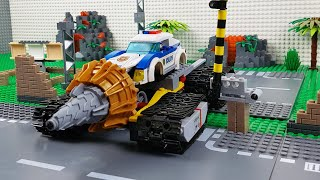 Lego Experimental Cars, Excavator, Bulldozer and Police Car Toy Vehicles For Kids
