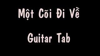 Guitar tab - Một Cõi Đi Về