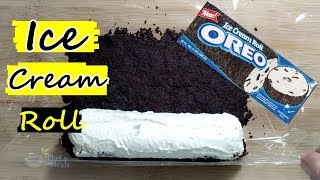 oreo biscuit ice cream rolls