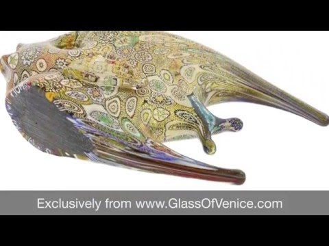Murano Glass Fish Sculpture - Millefiori | Www.GlassOfVenice.com