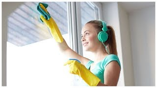 видео Процесс мытья окон
