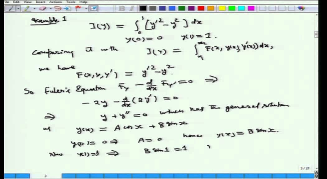 Mod-01 Lec-08 Calculus of Variations and Integral Equations