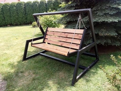 DIY Steel Garden Swing
