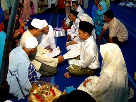 Akad Nikah Ceremony In A Traditional Malay Wedding Youtube