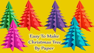 How to Make an Easy Paper Christmas Tree || DIY Origami Christmas Craft ||By Devart's