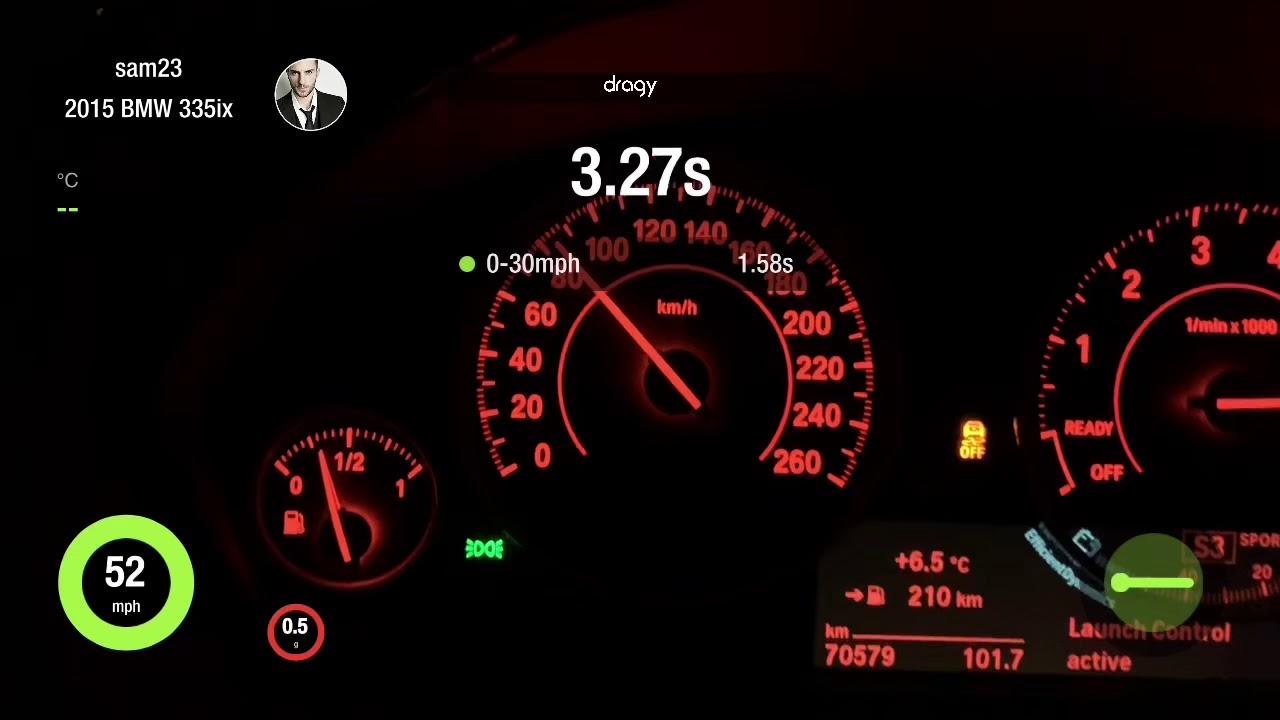 BMW F30 335i xdrive Bootmod3 0-60 0-200