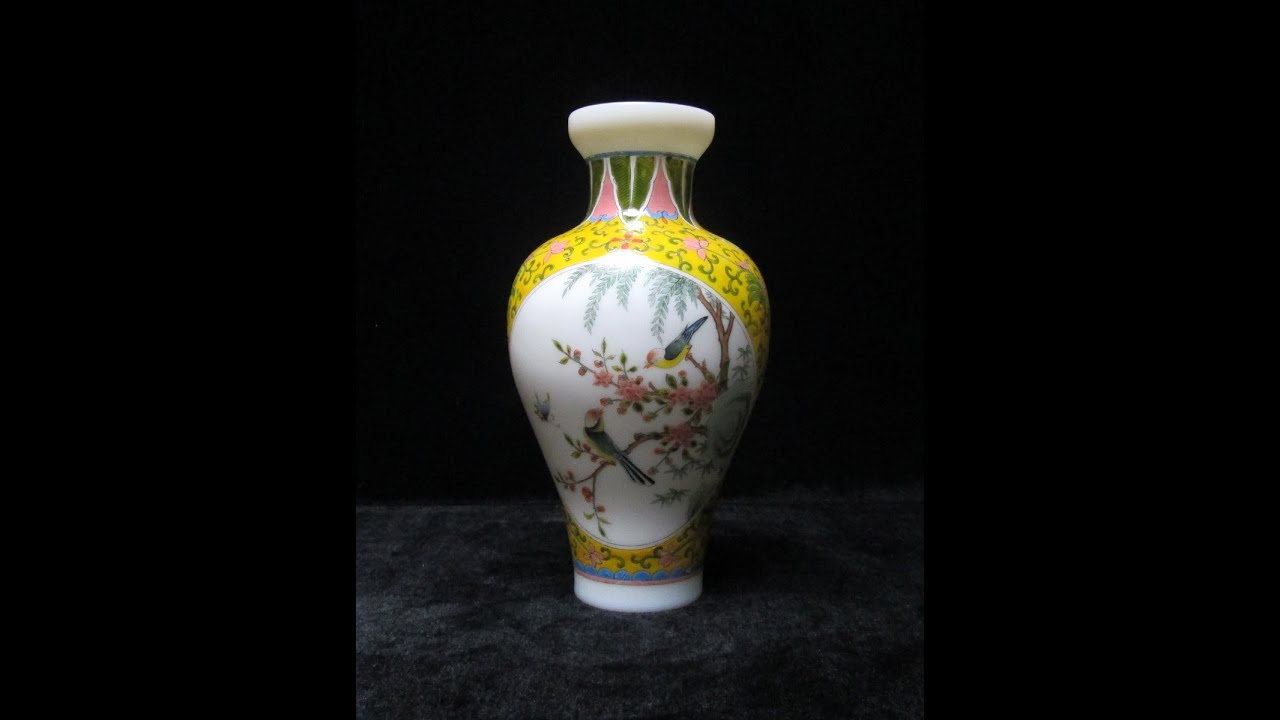 Chinese peking glass birds flowers colorful hand painting small chinese peking glass birds flowers colorful hand painting small vase f914 youtube reviewsmspy