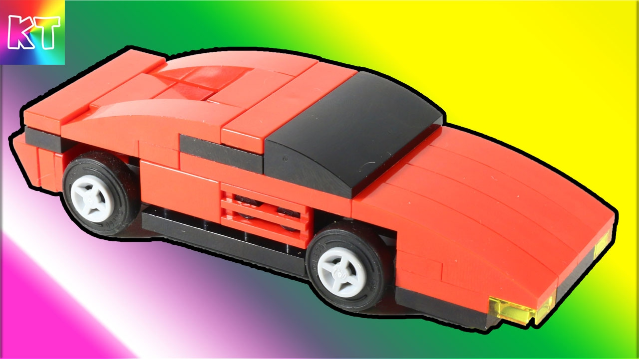 lego ferrari testarossa cars for kids speed build review