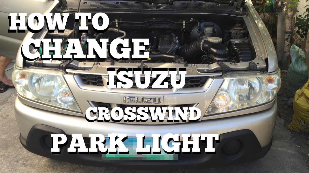 isuzu crosswind how to change park light beyoutyandbeyond