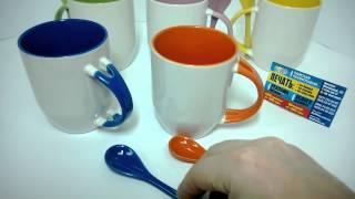 Печать на цветных чашках  Чашка+ложка  Харьков(, 2014-05-06T21:02:40.000Z)