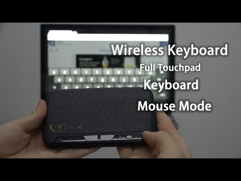 H18 2.4GHz  Wireless Keyboard Full Touchpad Remote Control Keyboard