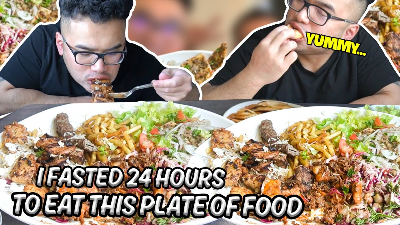 Download I FASTED 24 HOURS TO EAT THIS PLATE OF FOOD