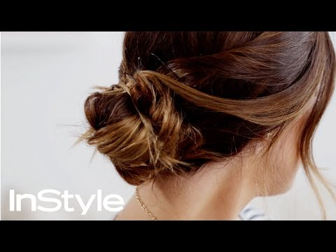 How To Create a Stylishly Messy Bun (Hair Tutorial) | #AskKat | InStyle