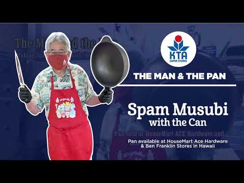 The Man & The Pan - Spam Musubi with the can