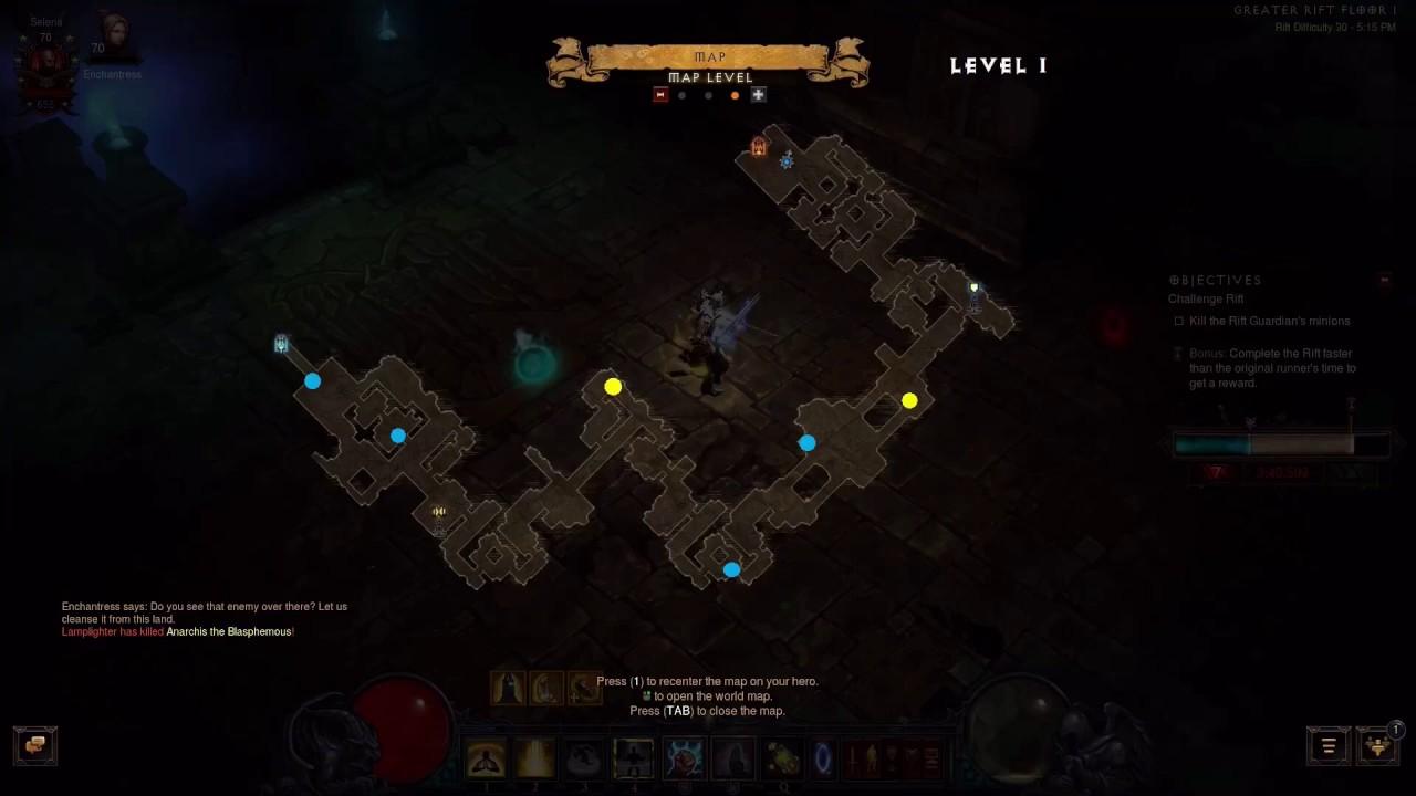 Diablo 3 Challenge Rift Map Week 5 The Americas