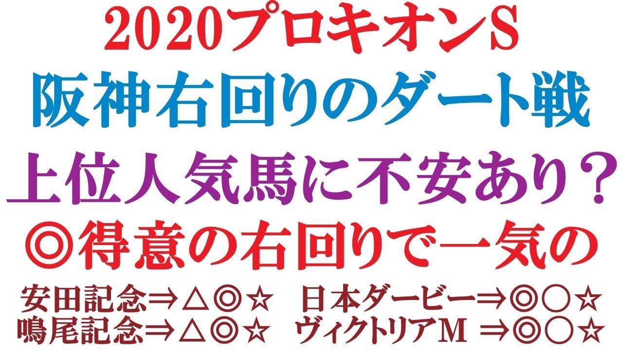 プロキオンステークス予想 2020  阪神右回りのダート競馬。上位人気馬に不安あり!