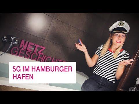 Social Media Post: 5G im Hamburger Hafen - Netzgeschichten