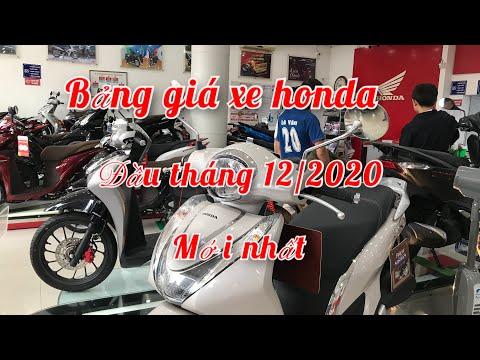 BẢNG GIÁ XE HONDA ĐẦU THÁNG 12/2020 mới nhất | honda go