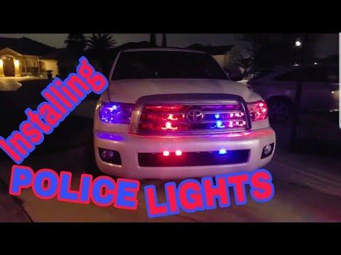 Installing POLICE Lights On My Seqoia
