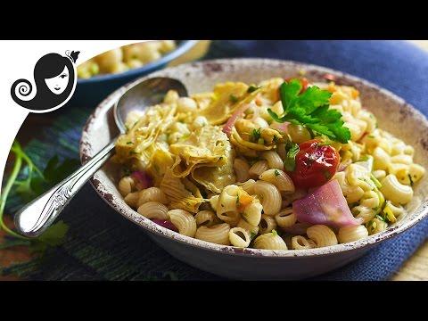 Macaroni Fricassee with Dried Bean Curd Skin Sticks (Tofu Skin or Yuba)   Vegan/Vegetarian Recipe