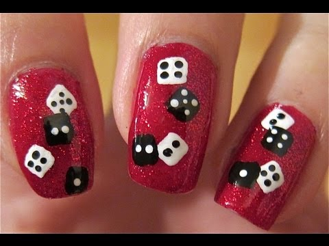 Vegas New Years Dice Nails