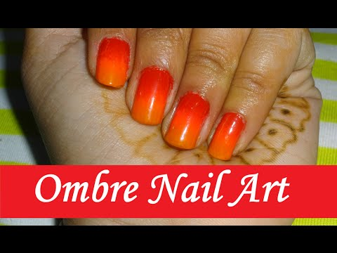 Ombre Nail Art Tutorial Sunset Design Red Pink Orange Naush