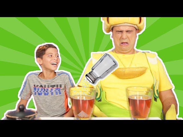 فوزي موزي وتوتي - عفو ومقلب الشاي - Tea prank