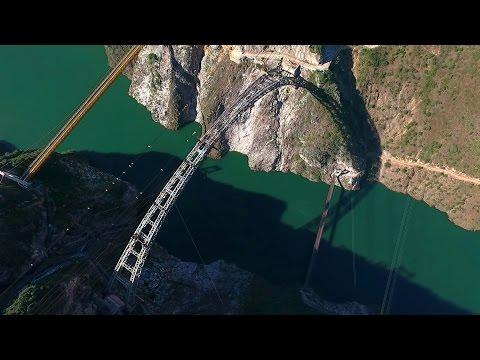Long-span arch bridge connected on Sino-Myanmar Railway
