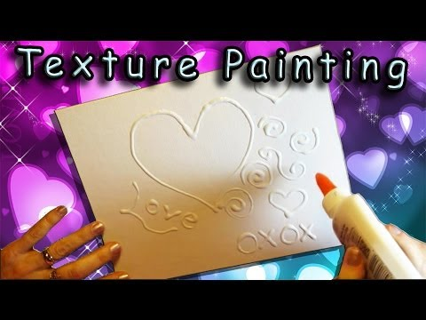 An Easy Valentines Day Craft For Kids Texture Painting With Glue