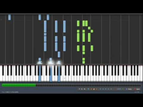 Never Too Late - Three Days Grace piano tutorial synthesia