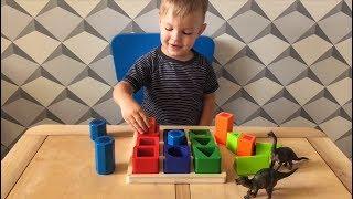 """Обзор игрушки сортер """"Формы"""" от фирмы Melissa&Doug деревянная развивающая игрушка"""