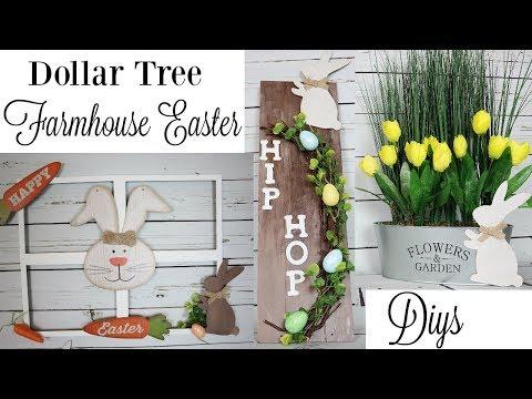 DIY Dollar Tree Farmhouse Easter Home Decor | DIY Easter Bunny Decor