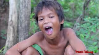 Primitive Technology - Eating delicious - Awesome cooking stingray on a rock