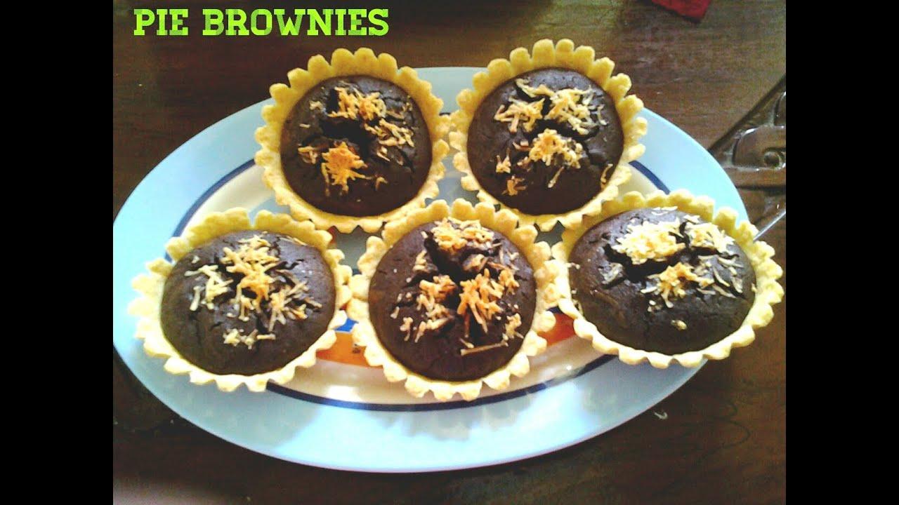 Resep cara membuat pie brownies cokelat enak youtube