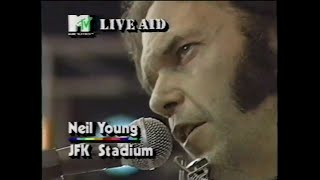 Neil Young - Sugar Mountain (MTV - Live Aid 7/13/1985)