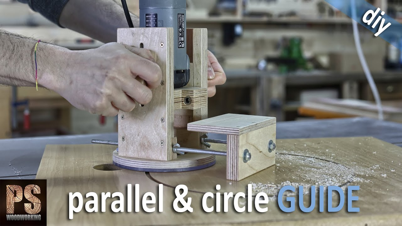 Homemade router edge and circle guide youtube keyboard keysfo Images