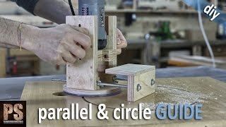 Homemade Router Edge and Circle Guide
