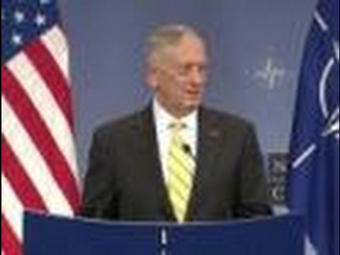 Mattis Speaks to Reporters Before NATO Counter-ISIS Meeting