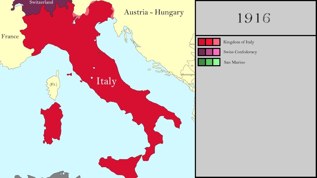 History Of Italy 1825 2016 Every Year Italian Unification
