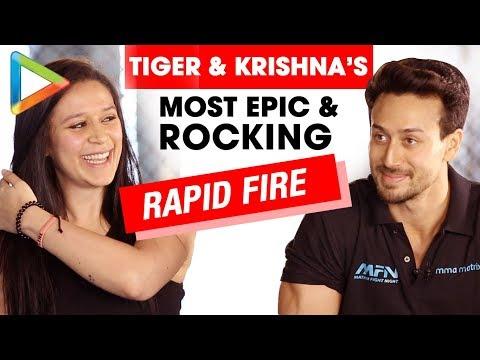 ROCKING: Tiger Shroff & Krishna Shroff's Rapid Fire On Salman, Hrithik, Love & Biopics