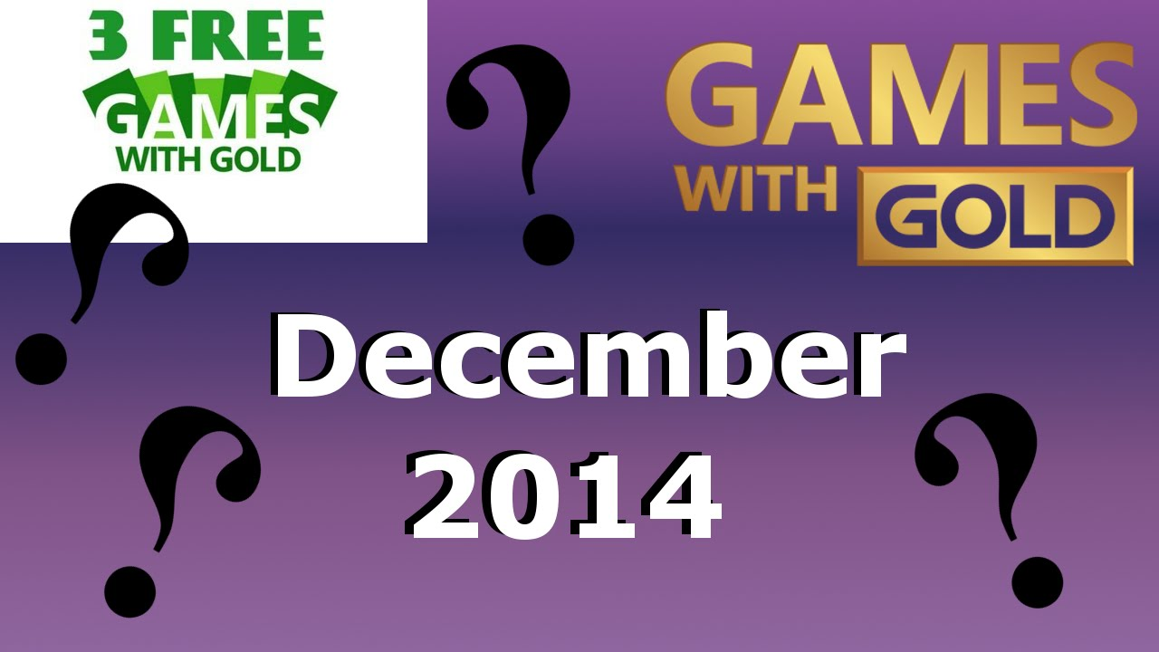 games free with gold december