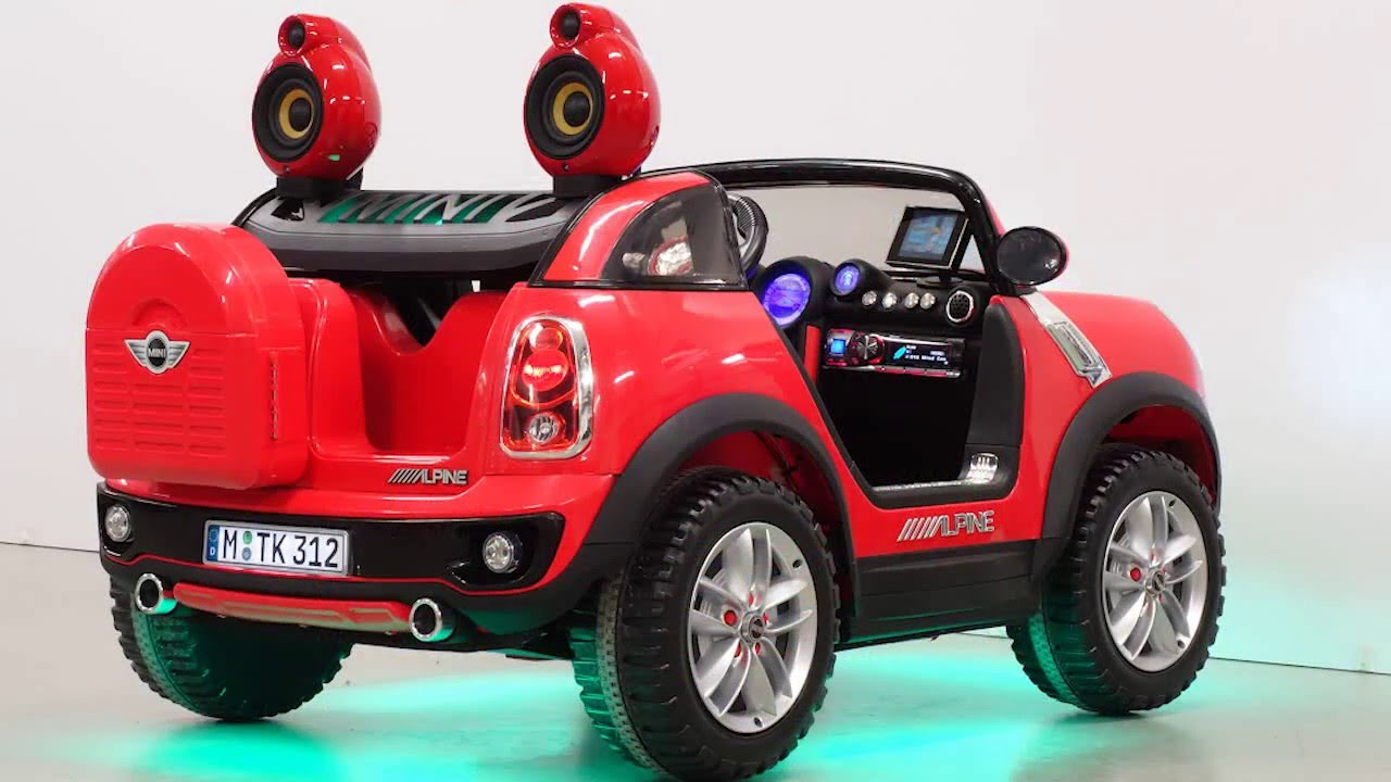 mini beachcomber kinder elektroauto tuning youtube