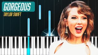 """Taylor Swift - """"Gorgeous"""" Piano Tutorial - Chords - How To Play - Cover"""