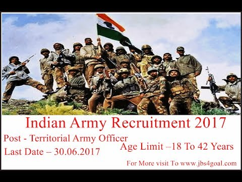 All India vacancy - Indian Army Recruitment 2017, +8500 Territorial Army Officer, Apply Online
